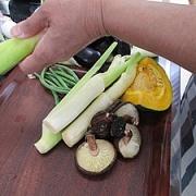 津幡産のマコモと旬の野菜